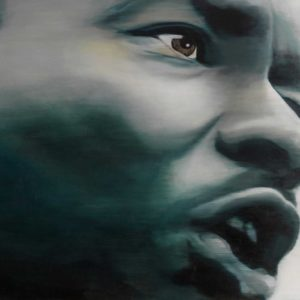 Gemälde / Painting: If you can´t fly… /Martin Luther King by Marion Rauter - (Öl auf Leinwand / oil on canvas)